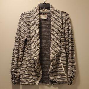 Saturday Sunday Anthropologie Gray Striped Sweater